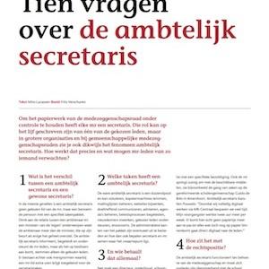 Tien vragen over de ambtelijk secretaris