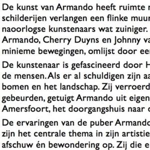Over de artiest Armando