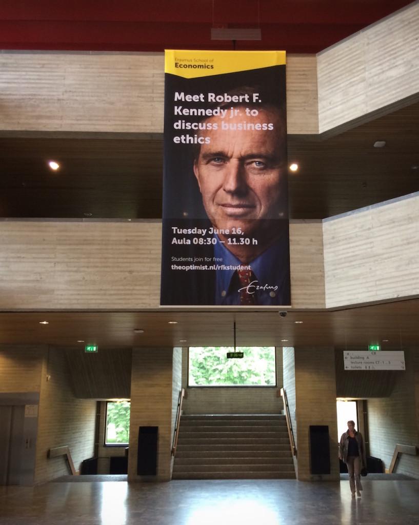 Onderwerp van het door The Optimist georganiseerde congres met Robert Kennedy: de ethiek van het zakendoen.